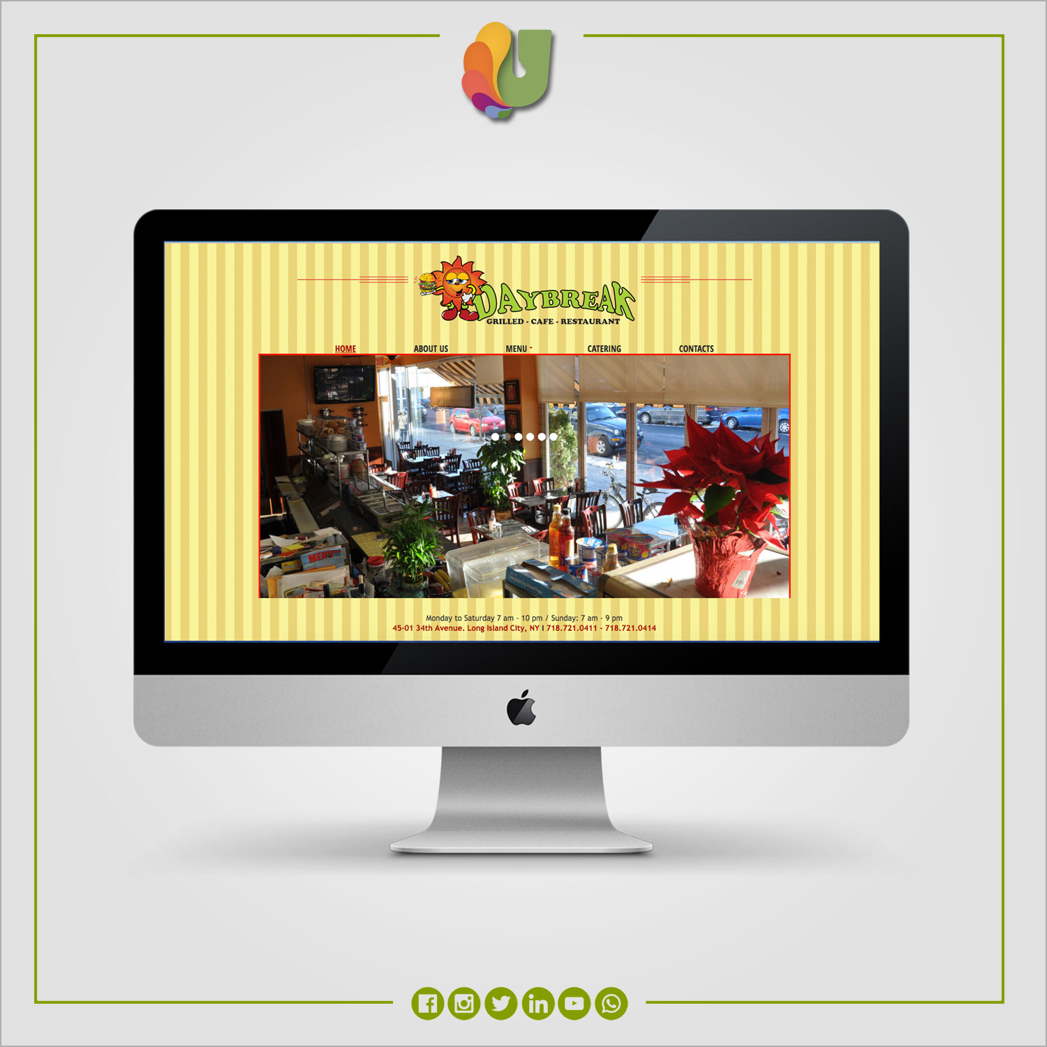 Daybreak Cafe / Website